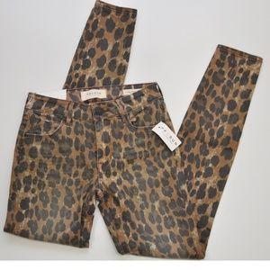 Pacsun Mid-Rise Skinniest Jeans Animal Print